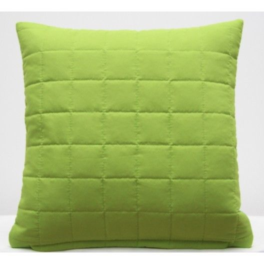 Svetlo zelená ozdobná obliečka na vankúš k prehozu