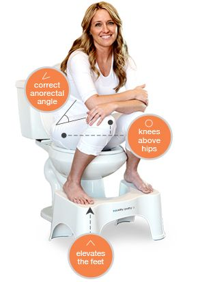 The ORIGINAL Squatty Potty toilet stool - I've used it and it really helps! I want one in bamboo!