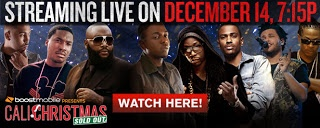 Hugo Beaumont: Cali Christmas 2012   Annual holiday concert organized by Los Angeles radio station Power 106.  Cali Christmas 2012 is streaming live on December 14 at 7PM! Be sure to tune in and watch the biggest concert of the year for free! Catch all your favorite artists like Kendrick Lamar, Rick Ross, 2 Chainz, Big Sean, The Weeknd, Meek Mill and more as they perform all your favorite songs!