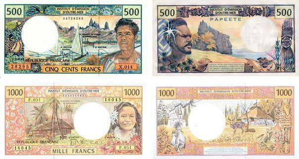 Красивые деньги.Французская Полинезия.         ...