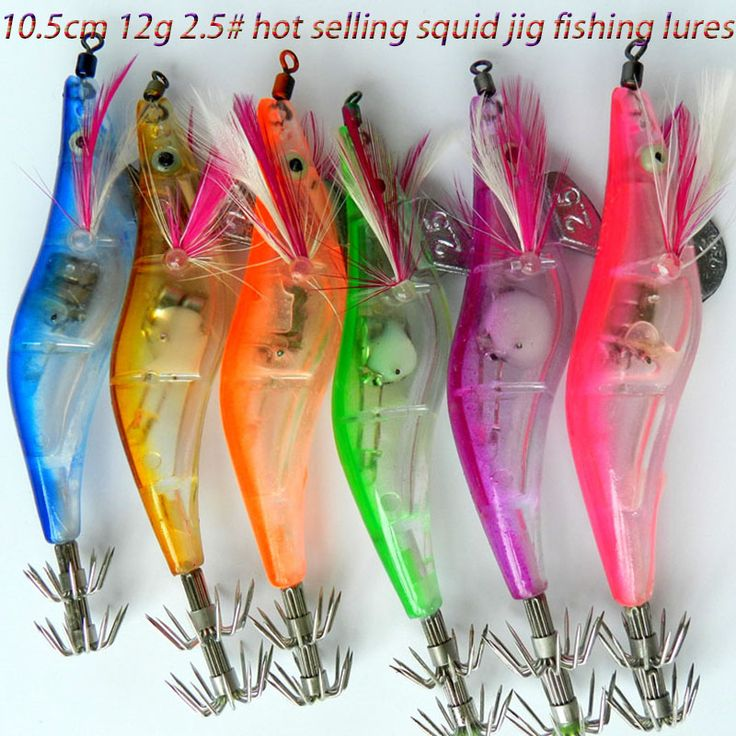 6ピース12グラム10.5センチプラスチック#2.5 ledエビ釣りルアー電子イカジグ鯉エビ釣り餌イスカペスカ釣りタックル