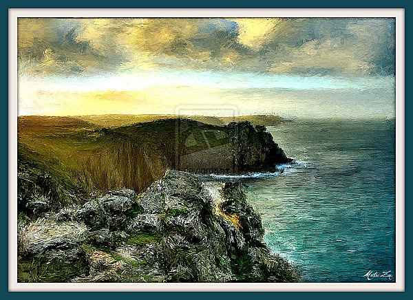 """""""Ocean""""  one of my photo manipulations. its a numeric painting from a photo."""