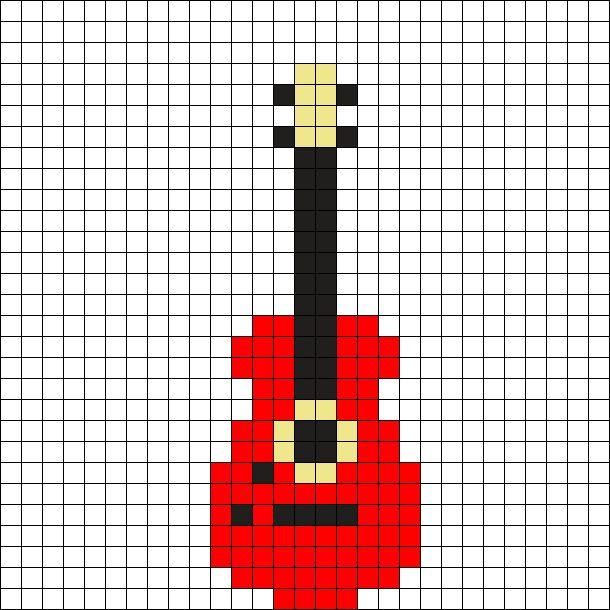 Red Guitar by Mrlemondrop on Kandi Patterns