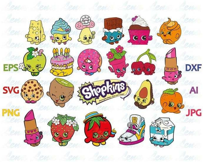 Shopkins Svg Shopkins Logo Shopkins Invitation Birthday Shirt Clipart Party Decorations Gifts Download Svg Png Dxf Eps File For Cameo Cricut By Lloyd Shop 2 5 Trong 2020