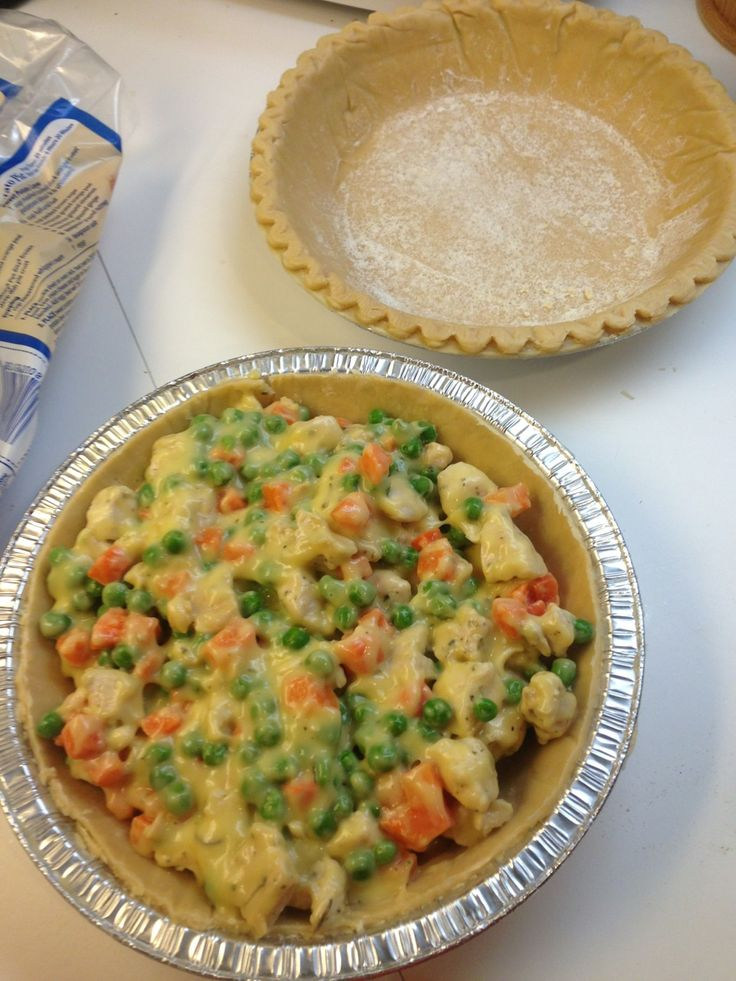 Super Easy Chicken Pot Pie All the goodness of homemade comfort food in about an hour! This and other easy, healthy & some notsohealthy recipes here!
