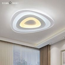 Üçgen ince modern LED tavan avize Yaratıcı ark üçgen Pleksiglas lamba ev gömme montaj ev aydınlatma lumiere luz