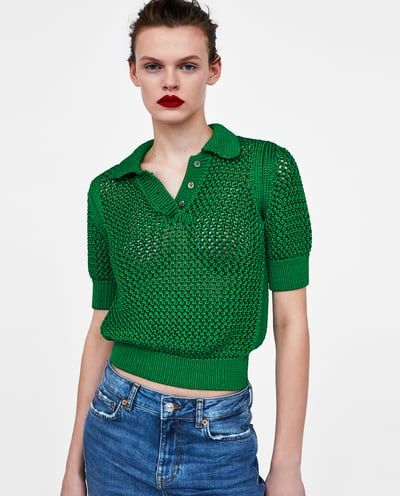 274f851b OPEN KNIT POLO SHIRT-View All-SHIRTS | TOPS-WOMAN | ZARA United States