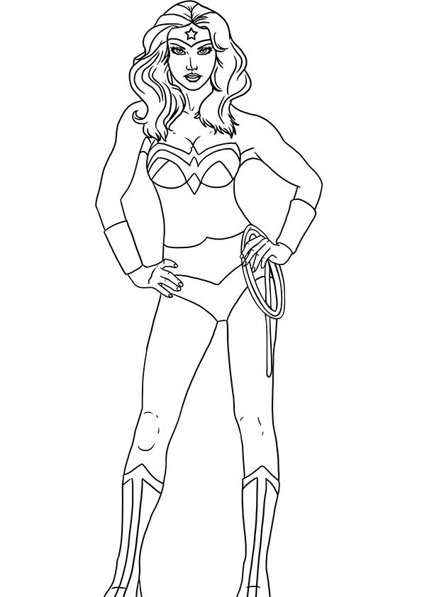 wonder woman coloring pages - photo#14