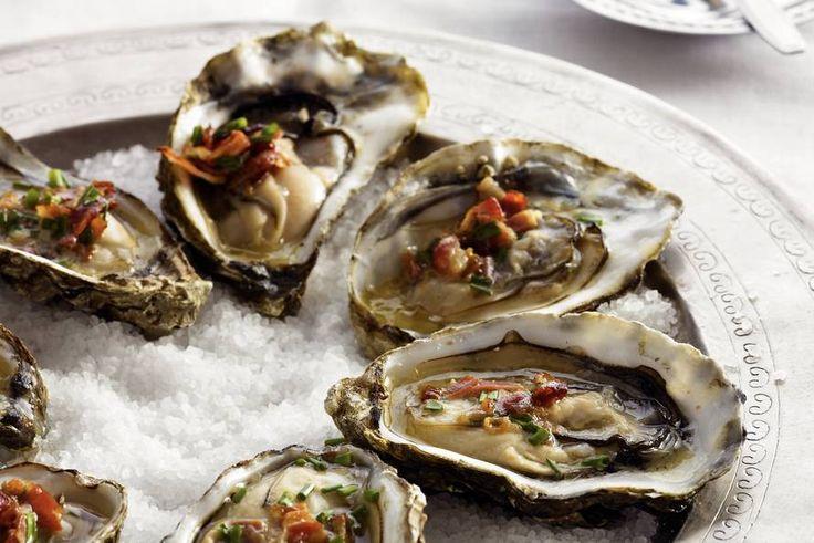 Kijk wat een lekker recept ik heb gevonden op Allerhande! Gegrilde oesters
