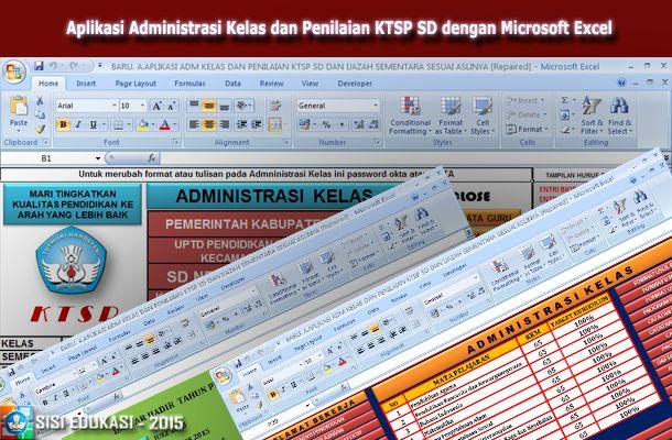 [.xls otomatis] Aplikasi Administrasi Kelas Terbaru dan Penilaian KTSP SD Menggunakan Microsoft Excel
