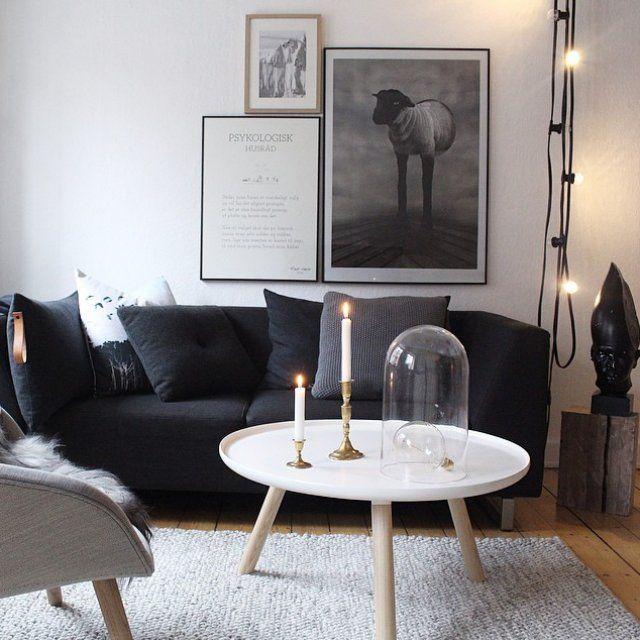 Les 25 meilleures id es de la cat gorie salon noir et - Table de salon noir et blanc ...