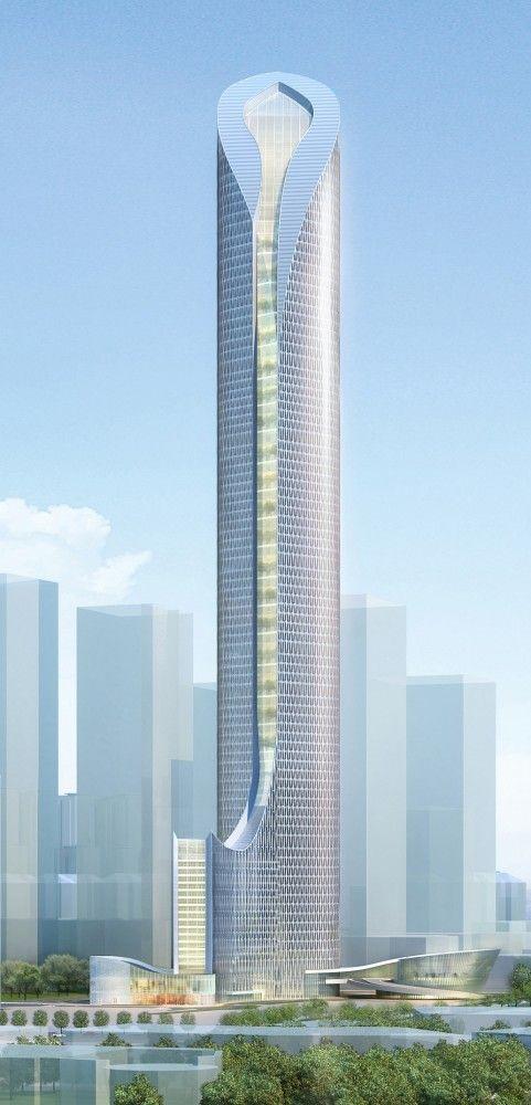 Suzhou International Plaza, China by Kohn Pedersen Fox Associates :: 92 floors, height 452m   #architecture #skyscraper #verticalliving