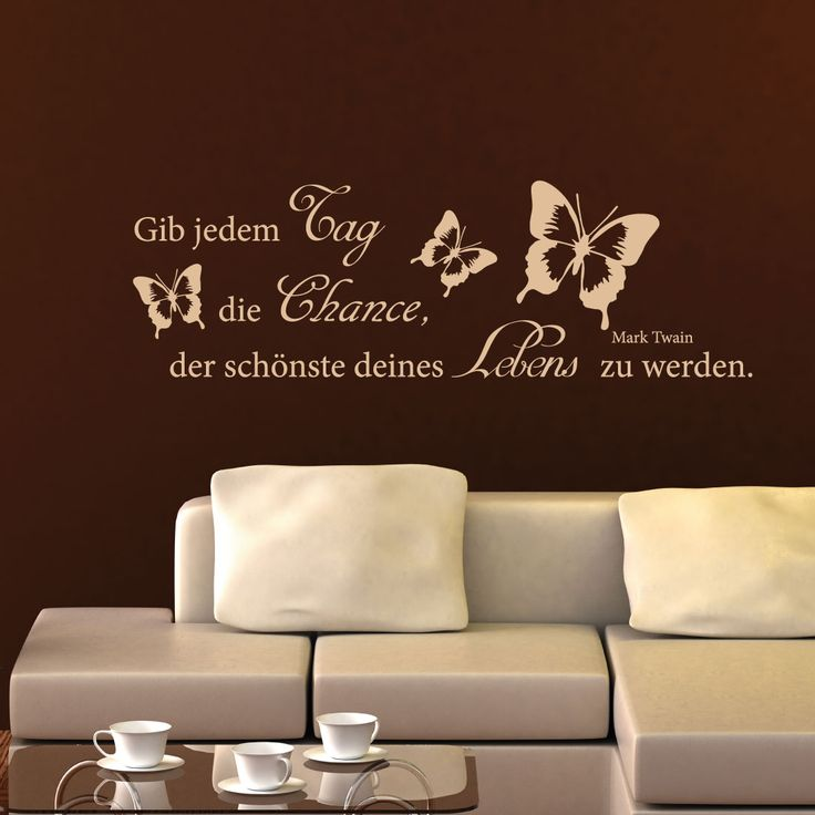 11 best Wandtattoo Zitate images on Pinterest Products, Kiwi and - wandtattoo schlafzimmer sprüche