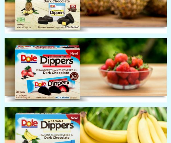 Walmart carries Dole Dippers for $2.96. Print the $3 off coupon to get free Dole Dippers at Walmart after coupon. #food #snacks