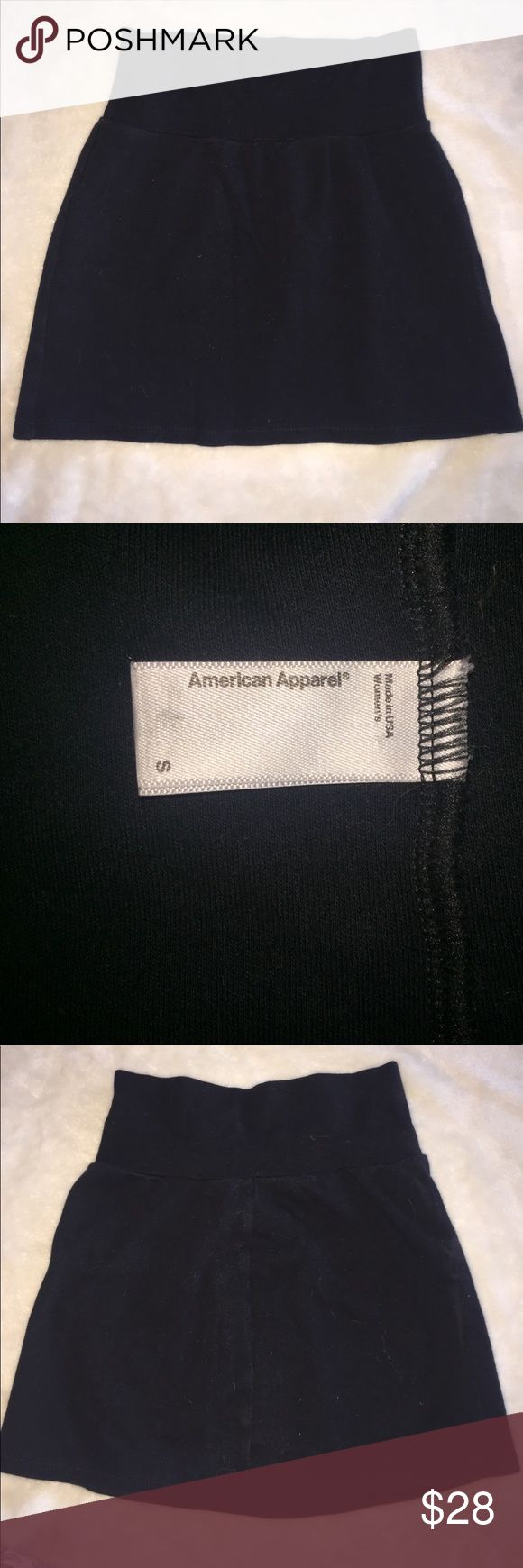 American Apparel tight black skirt American Apparel tight black skirt with stretch! Super super cute!! And comfy, a double win! Seams on sides. You'll look great out casually in this or dressing it up for a night out. American Apparel Skirts Mini