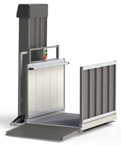 Wheelchair lift for homes or businesses wheelchair for Wheelchair accessible house plans with elevator