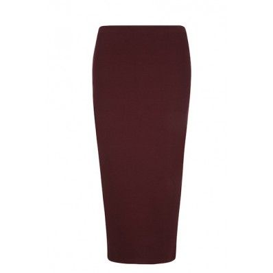 Annina Pencil Skirt in Burgundy BY PEOPLE TREE