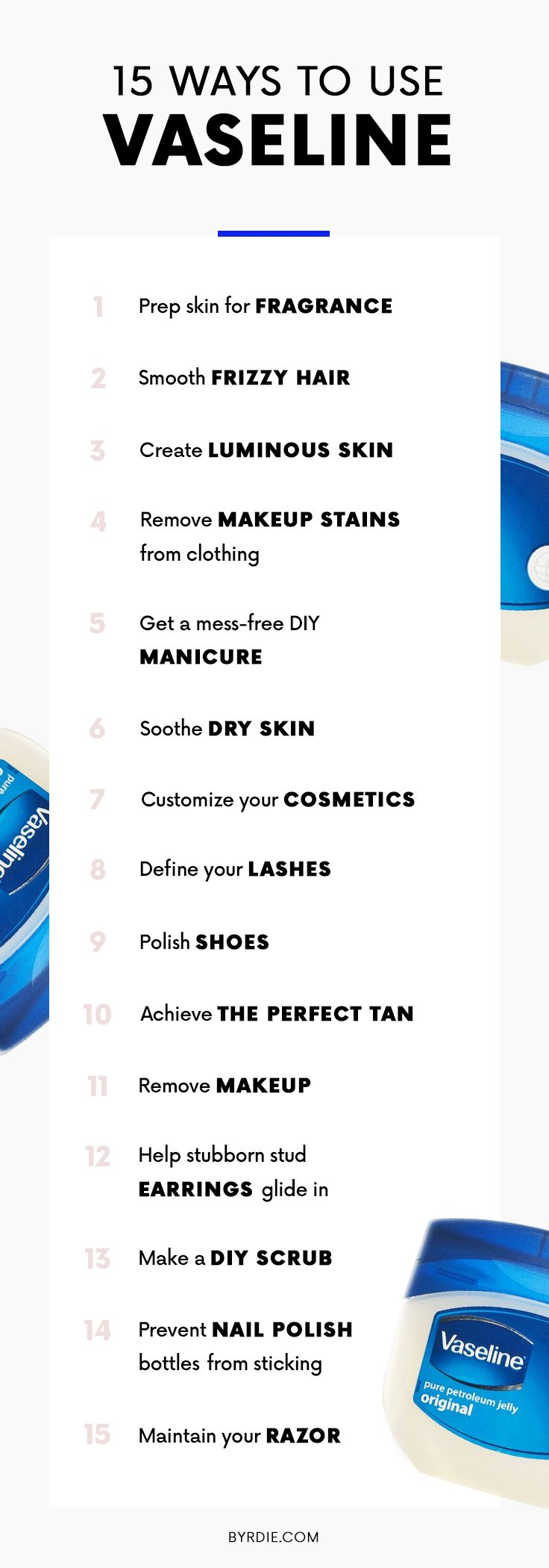 Amazing ways to use Vaseline in your every day life