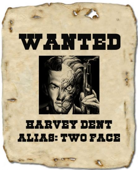 Villian wanted posters  Source: http://www.halloweenforum.com/party-ideas-experiences-recipes/111144-heroes-villains-wanted-posters.html