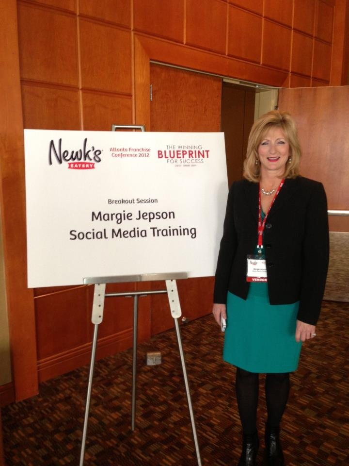 We are so proud of our MWB team who just returned from the @Newk's Express Cafe conference in #Atlanta! Here we what Social Media Director @Margie Jepson