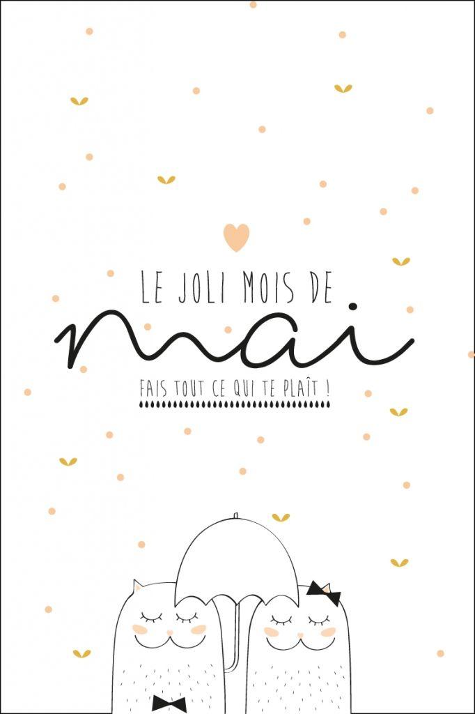 Jolie image - carte postale - carte à imprimer - Mai 2016
