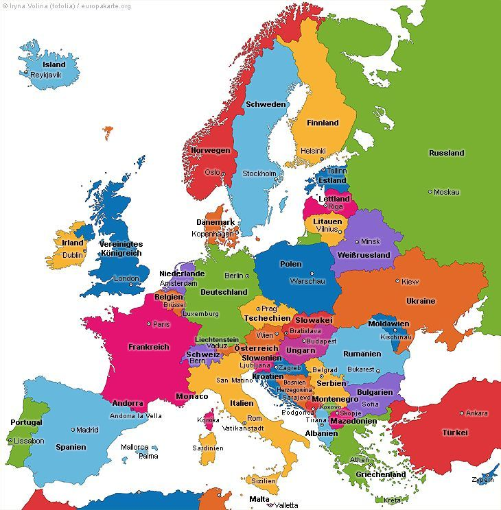 Europe Map The Map Of Europe Science Elementary Europe Map Elementary Science Activities Map