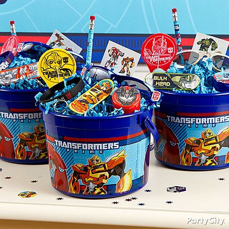Transformers Party Ideas: Favors - Click to View Larger