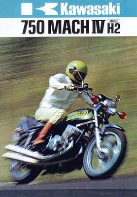 Kawasaki H2 750 Mach IV Motorcycle Ad.