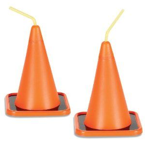 Orange Construction Cone Cups = Perfect Party Favors!