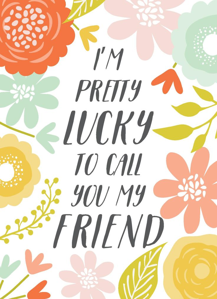 Gorgeous bold floral border and touching friendship message. Design by Print Smitten