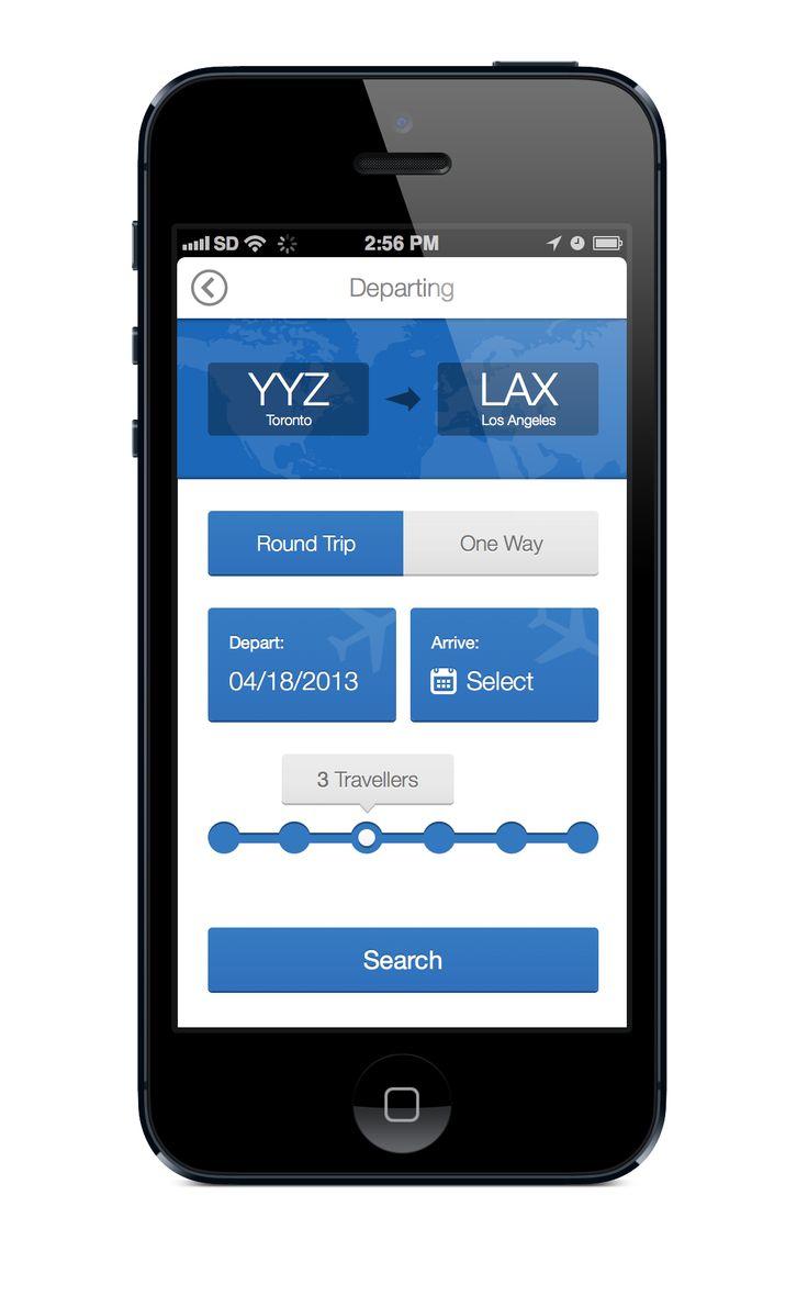 Flight-app-mockup