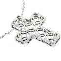 Silver Ornate Cutout Cross Pendant [SP723E] - £24.30 : UK Silver Jewellery, Buy Silver Necklaces, Earrings and Bracelets