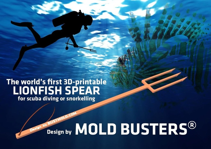 Dive Spear for LionFish Hunting 3D Printable by bustmold.
