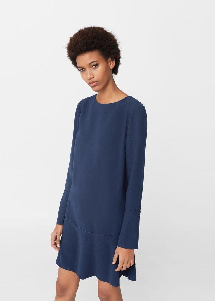 Платье с расширенной юбкой | MANGO МАНГО