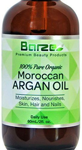 Barze Beauty 2oz. 100% Pure Argan Oil for Hair, Face, Skin, Beard, Nails & Cuticles - Certified Organic - Natural Anti-Aging, Anti-Wrinkle, Frizz Free Treatment - Paraben, Chemical & Cruelty Free