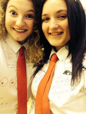 Leavers assembly - me and Maddi