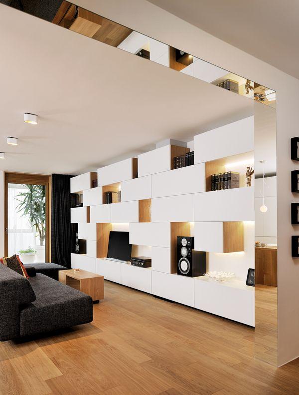 Home Theater - Geometric Residence / interior design by Lidija Dragisic