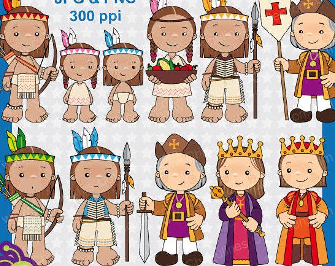 60% desc. Clipart Descubrimiento de America, Cristobal Colón, clipart para escuela, imágenes para la escuela, ilustraciones Colón Set 107