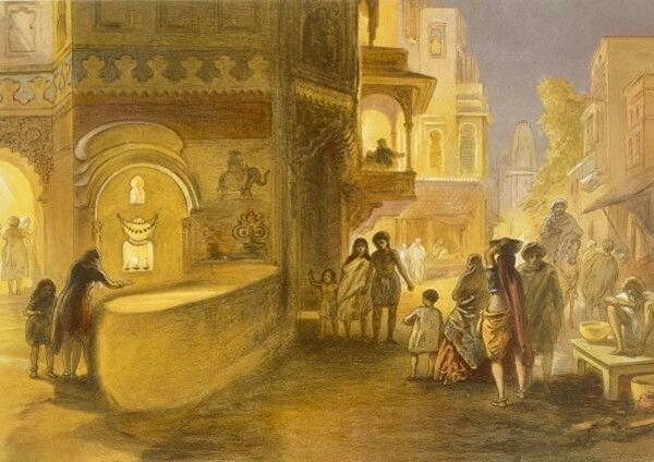 The Dewali or feast of lamps by William Simpson