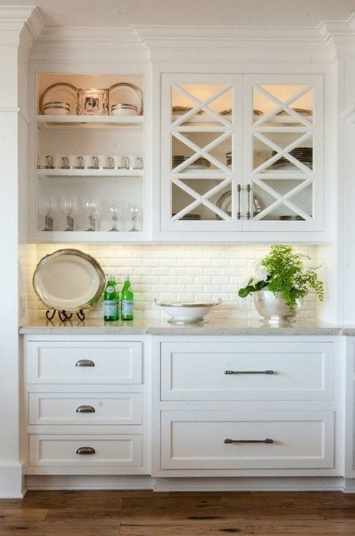 Unique Kitchen Cabinets Glass Doors Exterior
