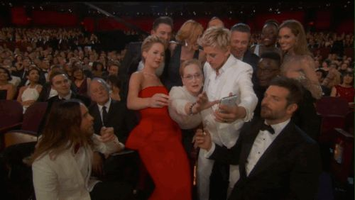 The 27 Best Moments From The 2014 Academy Awards- the epic selfie that actually broke Twitter (if only for a moment) #Oscars