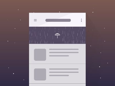 Pull to refresh_Freebie - Weather Concept by Yup Nguyen