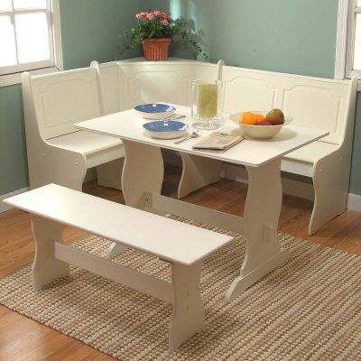 Target Marketing Systems 3 Piece Breakfast Nook Dining Set - 40094AWH