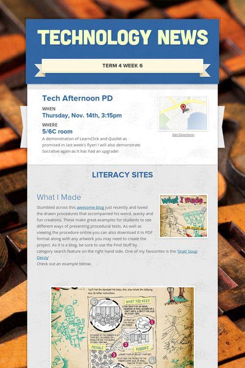 Technology News T4 W6