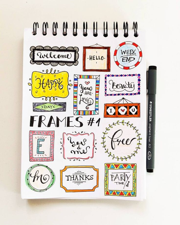Spice Up Your Bullet Journal with Beautiful Frames and Headers | Zen of Planning | Planner Peace and Inspiration