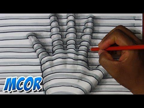 Como dibujar una ilusión óptica paso a paso | Selbor - YouTube