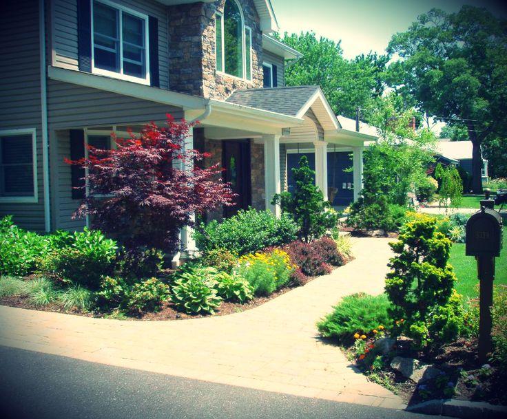 landscaping front walkways | landscape design front walkway with landscaping wantagh front walkway ...