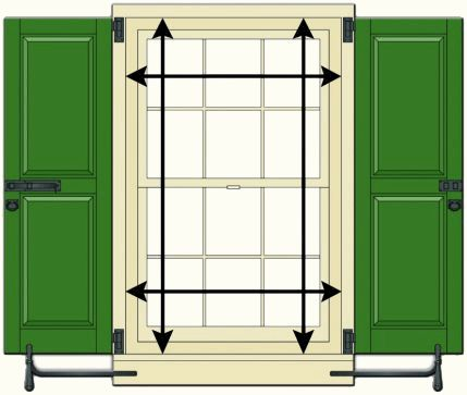 How to measure for shutters by timberlane pdf shutter - Measure exterior window shutters ...