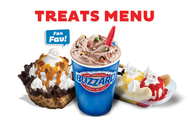 Blizzard Menu - Treats - Dairy Queen