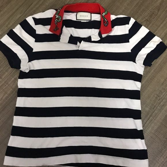 36bc1ae0 Gucci men fitted polo with king snake - large Large fitted Gucci polo with king  snake embroidery Gucci Shirts Polos
